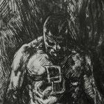 Boceto de Daredevil. Tinta.