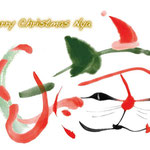 アート書 猫 クリスマス