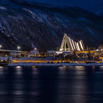 Eismeerkathedrale vom Hurtigrutenkai aus fotografiert.