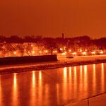 Uferpromenade an der westseitigen Elbe