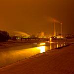 Blick auf die Eisenbahnbrücke