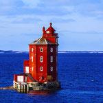 Der rote Leuchtturm Kjeungskjær