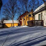 Bunte Häuser - und viel Schnee. :-)