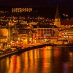 Die Rosenstadt Molde im Abendlicht.