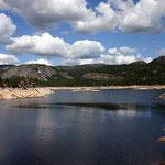 Juvastausee mit Wassermangel