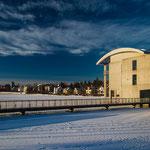 Das Rathaus am Tjörn im Winter.