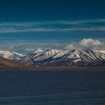 Felsen und Gletscher an der Küste