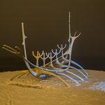 Der Sonnensegler im Schneesturm.