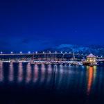 Tromsøbrücke am Abend