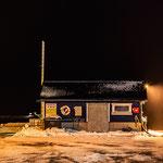 Im Hafen von Båtsfjord  - nur kiner Stopp wegen Sturm.