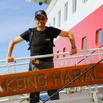 Nach einem Stadtrundgang wieder zu Hause - auf der MS Kong Harald.