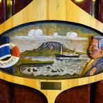 In den Fluren hingen diese Bilder über die Geschichte der Hurtigruten.