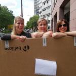 Anlieferung des Trampolins extra für den Cancer Survivor Day