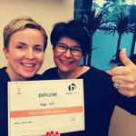 Christina meine Ausbilderin - Du bist toll! Feut euch auf den Trampolin Health Kurs in pinkem Flair!