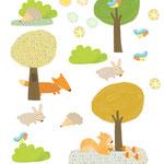 stikers muraux  La forêt ed. nouvelles images