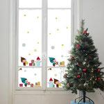 stikers fenêtres Les lutins de noël ed. nouvelles images
