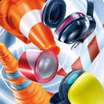 Protezione sul lavoro: guanti, occhiali protettivi, maschere antipolvere, protezioni auricolari, ginocchiere, barriere