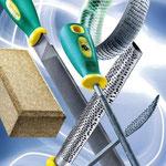 Utensili per limare e grattare: lime, raspe, utensili abrasivi