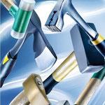 Utensili per percuotere: martelli, scalpelli, asce e scuri, pistole sparachiodi