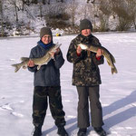 Eisfischen - städt. Kiesweiher - Januar 2011