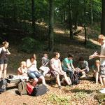 Exkursion mit einer Schulklasse