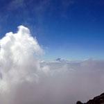 雲海上の富士山 赤岳(八ヶ岳)