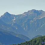 爺ヶ岳登山道から 穂高吊り尾根