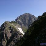 劔岳山頂の全容 前劔から