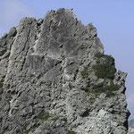 針峰群(左の画像)右側のup(同行者撮影)