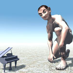 Mr Bin. gland piano