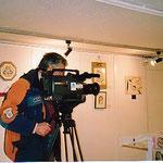 2005年1月 Italy個展 (イタリア個展)  libreAvit(Vicenza) に 於いて 地元テレビの取材