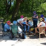 Picknick im Grünen, ein schöner Abschluss unseres Waldspaziergangs