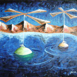 2003 - attervolo - oil on canvas 70 x 50