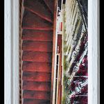 2015 - stairs - tecnica mista olio su PVC and wood windows- 34 x 73