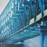 2012 - *the bridge - mixed media with oilfinish on PVC - 140 x 50
