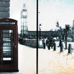 2012 - big ben - mixed media with oilfinish on PVC - 198 x 99