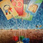 2004 - negare l'esistenza - oil on canvas 50 x 70