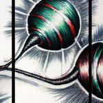 2012 - origine - mixed media with oilfinish on canvas - 150 x 70