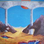 1995 - facciata umana - oil on canvas