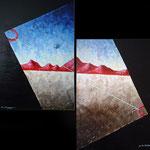 2000 - viaggio dn - oil on canvas 2 x 50 x 70
