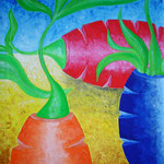 2003 - pace e guerra - oil on canvas 50 x 70