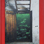 2015 - acquario - photo collage with oilfinish on PVC and wood frame- 63 x 84