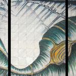 2011 - speranza e passion - mixed media with oilfinish on canvas - 150 x 70