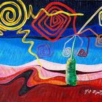 2005 - paesaggio incantato - oil on canvas 70 x 50