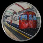 2016 - tube - mixed media with oilfinish on PVC and aluminum frame Ø 70