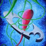 2003 - strangolato - oil on canvas 50 x 70