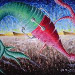 2004 - tecnica vs natura - oil on canvas 70 x 50