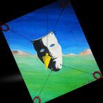 1995 - maschera - oil on canvas - 50 x 60
