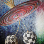 2005 - over the top - oil on canvas 50 x 70