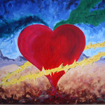 1997 - amore soffocato - oil on canvas - 70x 50